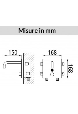 DMP - QUADROMIX T A PARETE CON MIXER