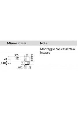 DMP - MINIUNO MIX MONO SENSOR A PARETE CON MIXER ACQUA CALDA / FREDDA