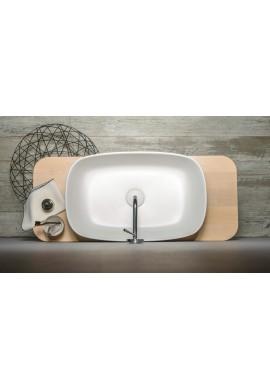 EVER BOUNCE lavabo CRISTALPLANT con portasciugamani in corda