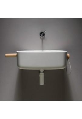 EVER BOUNCE lavabo CRISTALPLANT con portaoggetti e corda