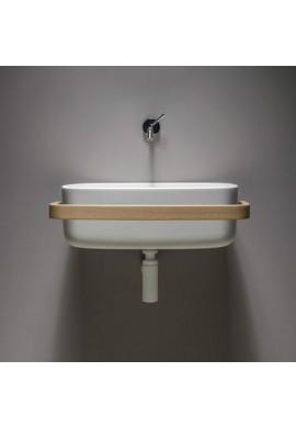 EVER BOUNCE lavabo in cristalplant con portasciugamani avvolgente
