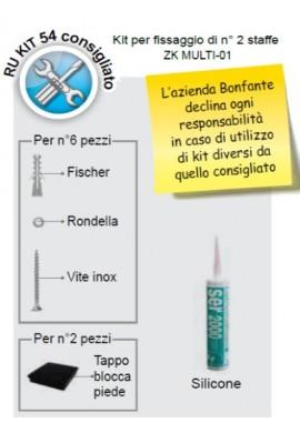BONFANTE - KIT PER FISSAGGIO N°2 SUPPORTI ZK MULTI-01
