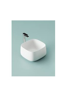 ARTCERAM - COGNAC QUADRO 55  55X35 LAVABO APPOGGIO bianco e colorato