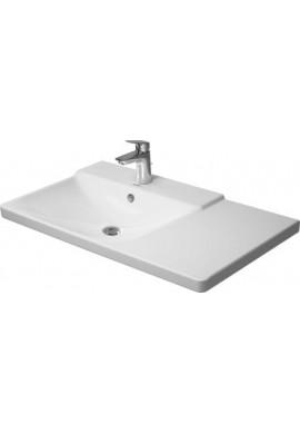 DURAVIT P3 CONFORTS ASMMETRICO SX  lavabo consolle 1250 bordo rubinetteria