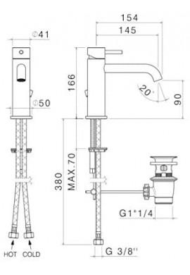VEMA - TIBER STEEL miscelatore  lavabo in ACCIAIO INOX