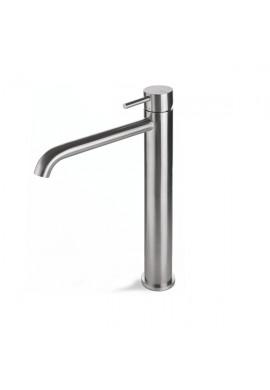 VEMA - TIBER STEEL miscelatore  lavabo alto in ACCIAIO INOX senza scarico
