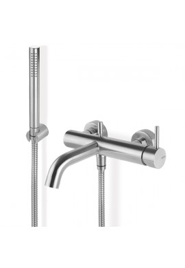 VEMA - TIBER STEEL miscelatore vasca esterno duplex in ACCIAIO INOX