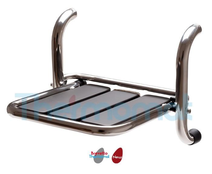 Sedile Doccia Disabili : Thermomat sedile ribaltabile doccia inox compra thermomat srdnx