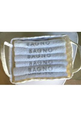 """BLANC MARICLO' CESTINO CON 6 LAVETTE """"BAGNO"""""""