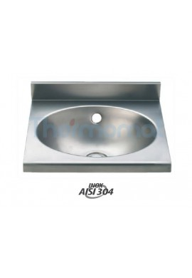 THERMOMAT -  2014 LAVABO OVALE IN ACCIAIO INOX