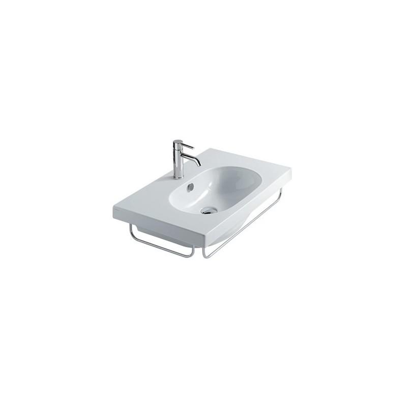 Galassia m2 lavabo sospeso cm 75 compra galassia m2 for Cambiare tavoletta wc sospeso