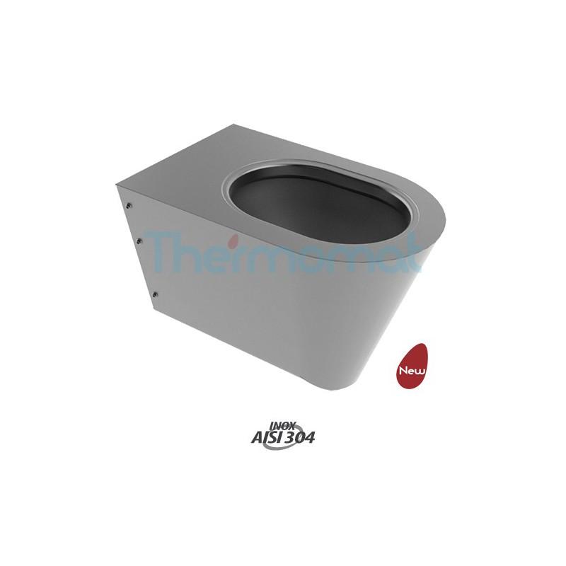 Thermomat 2054 vaso acciaio inox sospeso compra thermomat for Cambiare tavoletta wc sospeso
