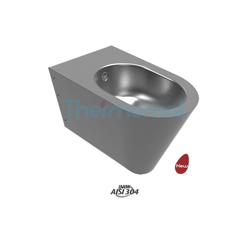Thermomat 2055 bidet sospeso carenato acciaio inox compra for Cambiare tavoletta wc sospeso